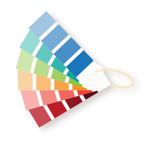 Brand and product development via integrated marketing programs - colour chart